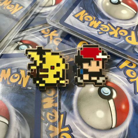 Ash and Pikachu 8bit Gameboy Lapel Pins