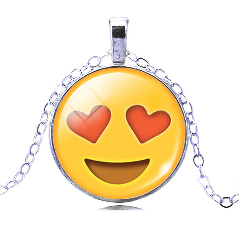 Emoji Necklace - Heart Eyes