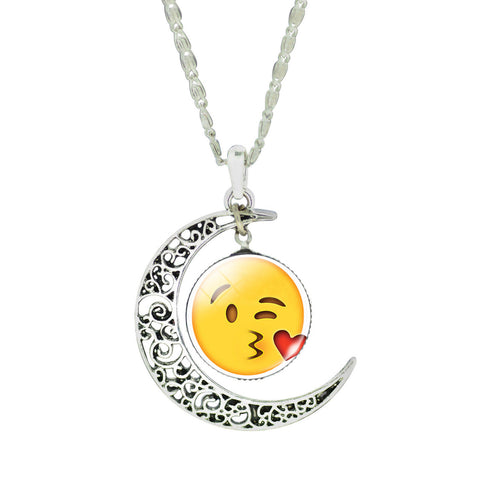 Emoji Necklace - Moon Kiss