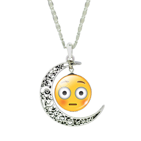 Emoji Necklace - Moon Blushing