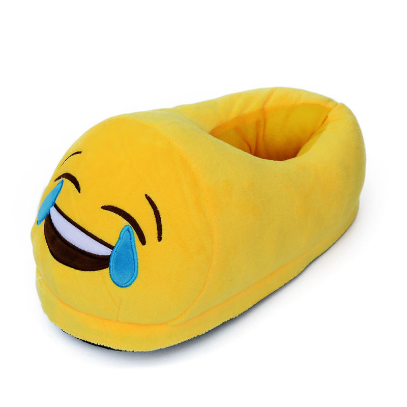 Emoji slippers laughing tears emojis fun emoji slippers laughing tears sciox Gallery