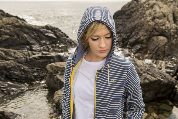 Lighthouse Clothing Striped Strand Hoody
