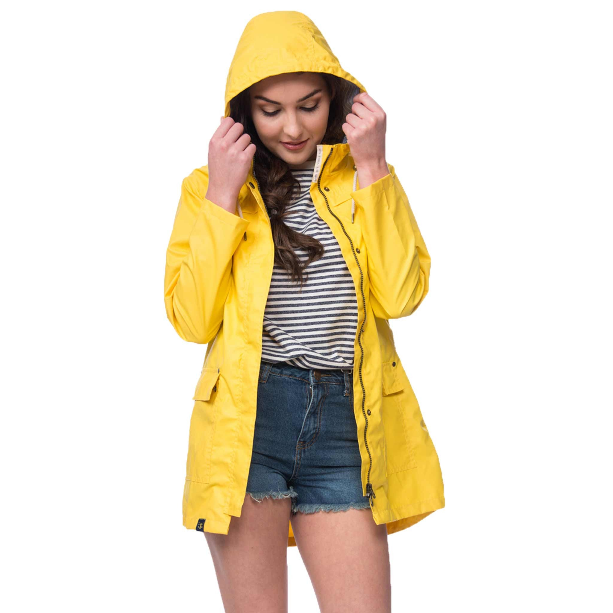 Lighthouse Bowline Womens Rubber Raincoat in Yellow