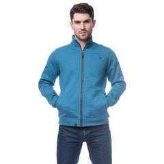 Lighthouse Coast Mens Full Zip Sweater in Blue