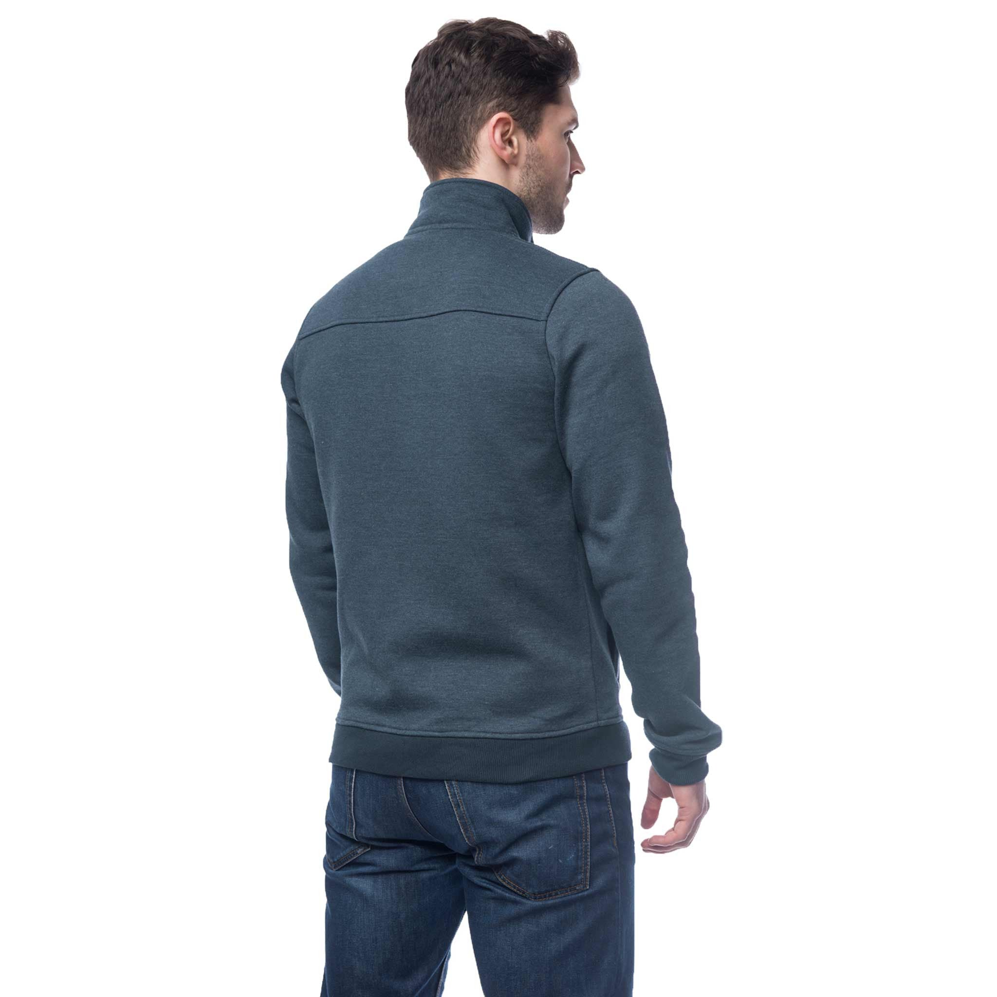 Lighthouse Coast Mens Full Zip Sweater in Navy