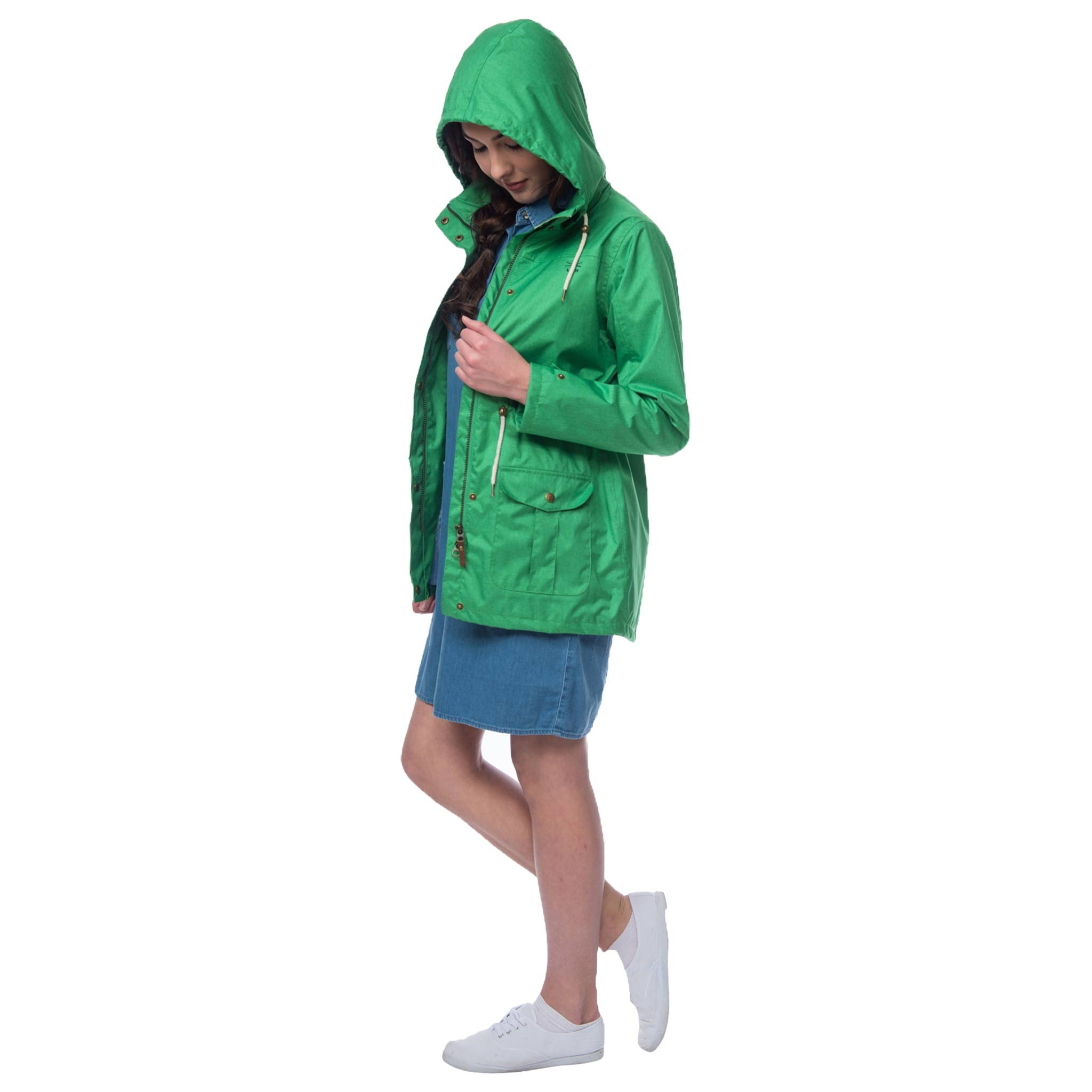 Lighthouse Fearn Womens Waterproof Raincoat in Green