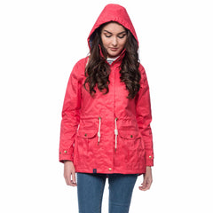 Lighthouse Fearn Womens Waterproof Raincoat in Red