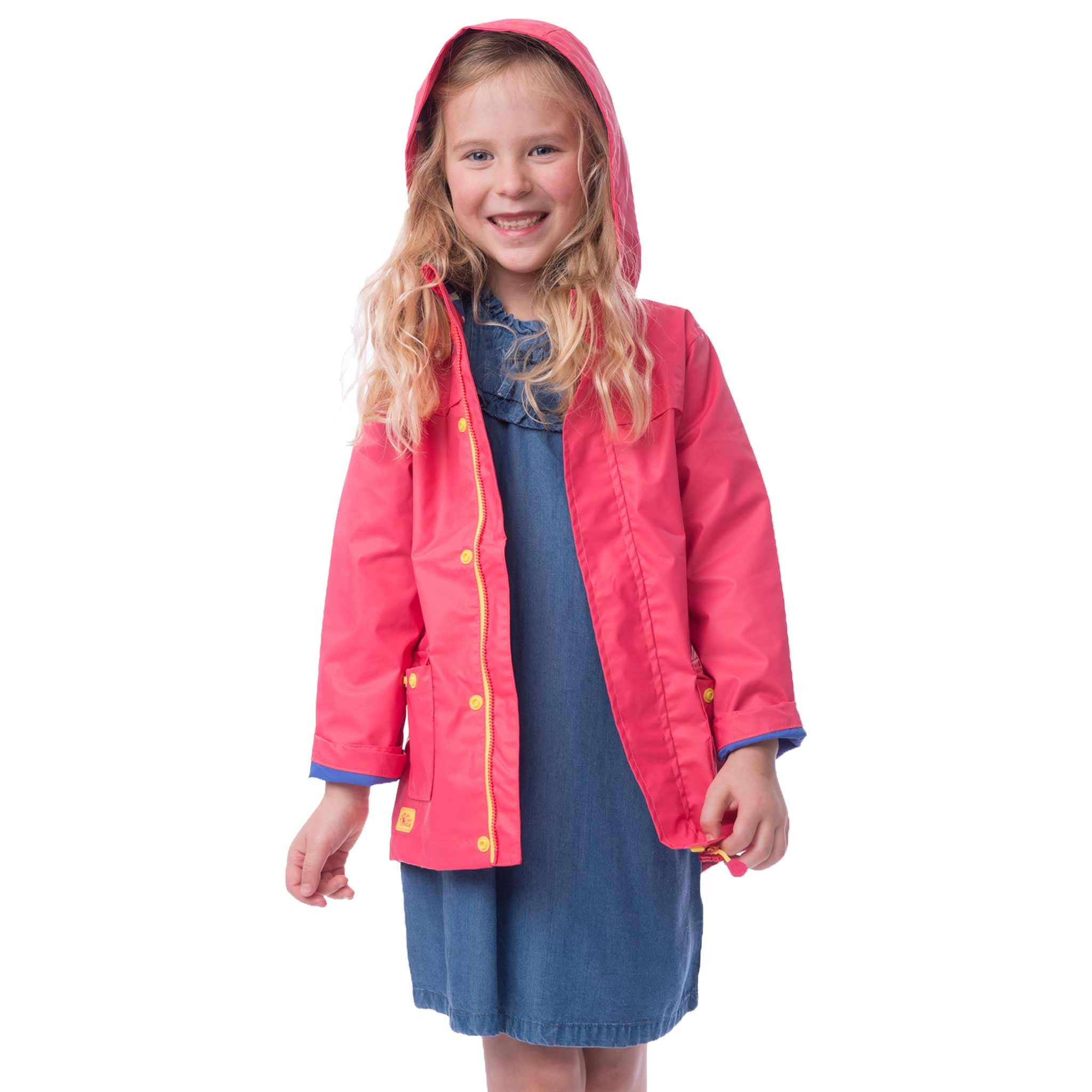 Lighthouse Phoebe Girls Waterproof Coat in Pink