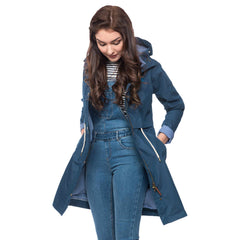 Lighthouse Womens Rayna Waterproof Parka in Midnight Navy