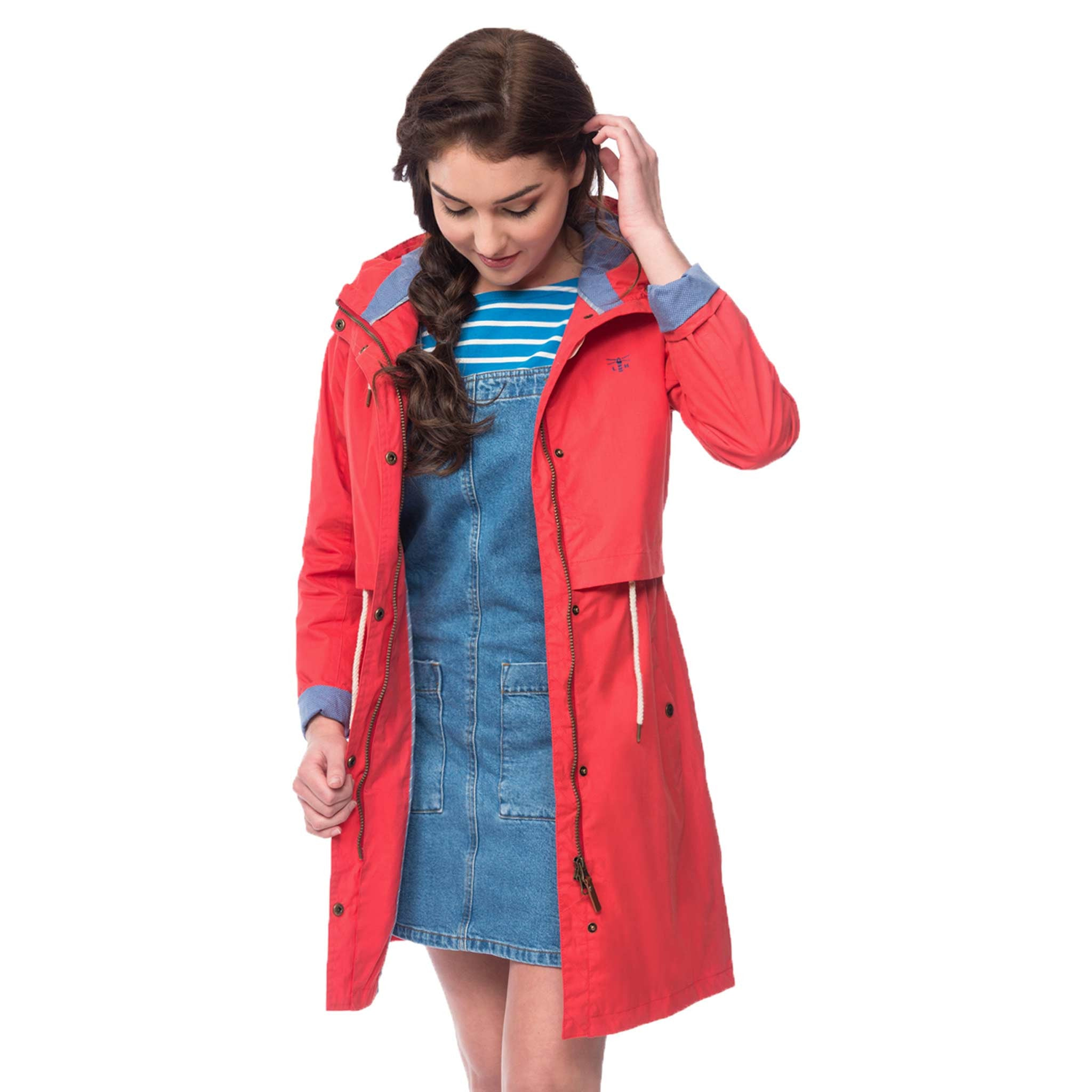 Lighthouse Womens Rayna Waterproof Parka in Poppy Red