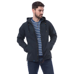 Lighthouse Seaport Mens Waterproof Jacket in Navy