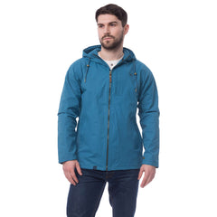 Lighthouse Seaport Mens Waterproof Jacket in Blue