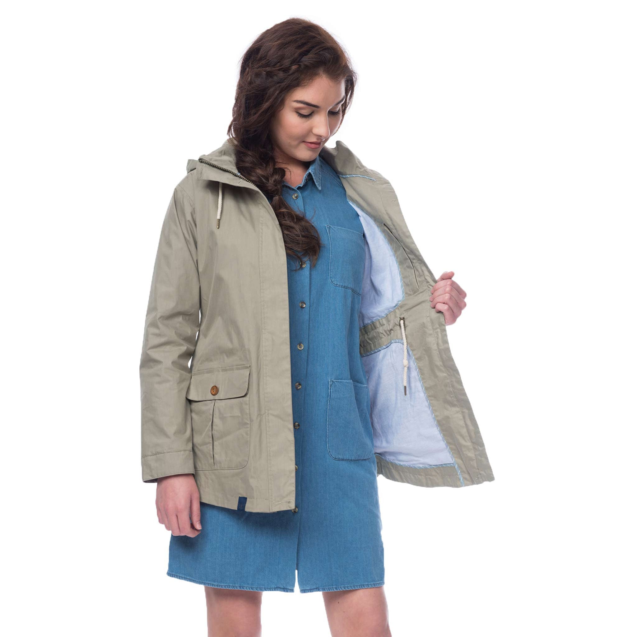 Lighthouse Tori Womens Waterproof Rain Coat in Grey