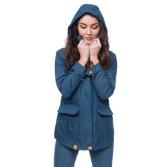 Lighthouse Tori Womens Waterproof Rain Coat in Navy