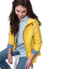 Lighthouse Wren Womens Rain Jacket in Yellow