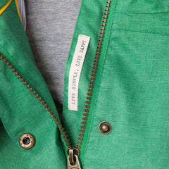 Bluejay Womens Waterproof Jacket in Seagrass Green, Modelled Detail View | Lighthouse