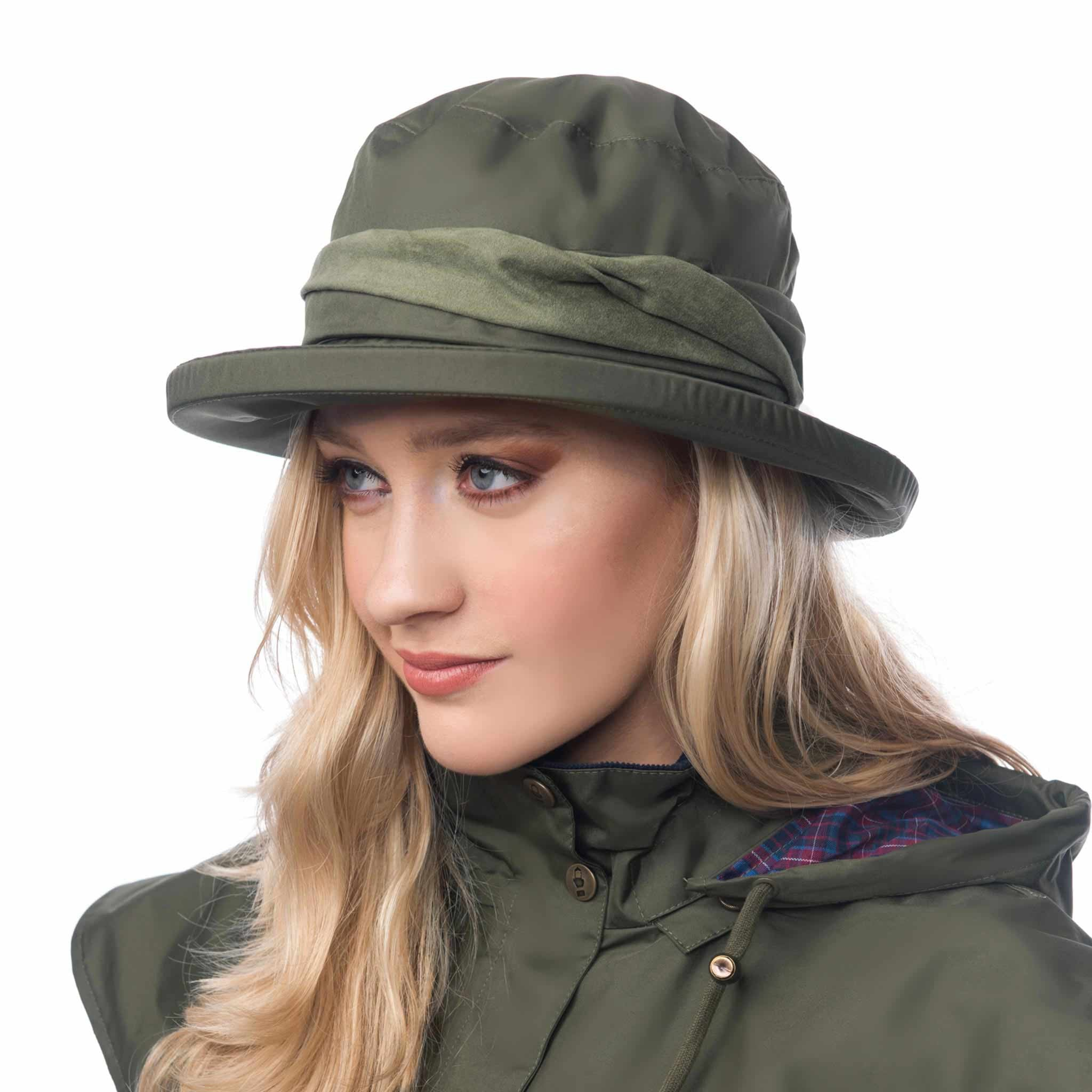 Lighthouse Womens Canterbury Cloche Hat in Green.