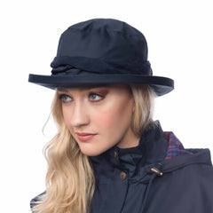 Lighthouse Womens Canterbury Cloche Hat in Navy.