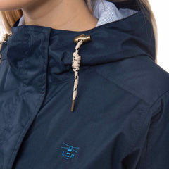 Fayda Womens Waterproof Parka in Night Sky Navy, Detail Shots| Lighthouse