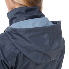Isla Womens Waterproof Jacket in French Navy, Modelled Back View | Lighthouse