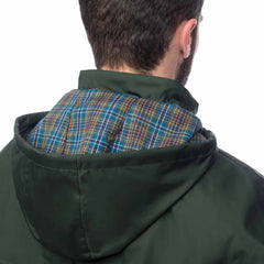 Lighthouse Mens Stockman Full Length Waterproof Rain Coat in green.