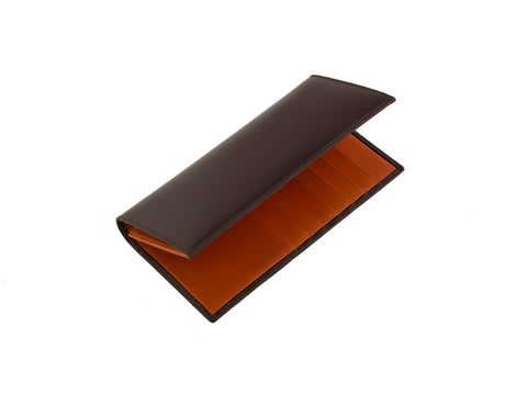 The Arun Brown Bridle Leather Slim Wallet