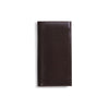 arun brown bridle leather slim wallet closed