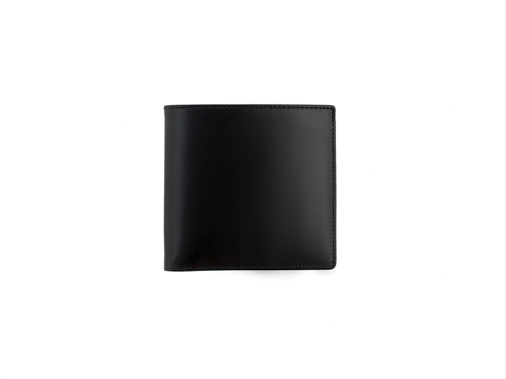cadnam black and aqua bridle leather wallet closed