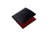 cadnam black and red bridle leather wallet