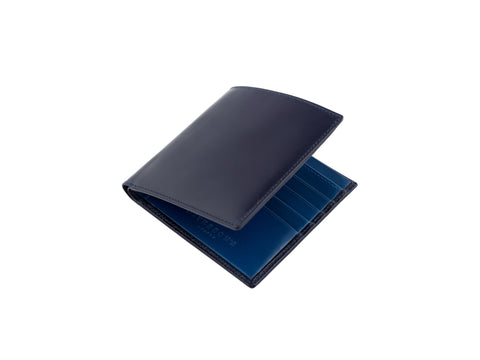 cadnam blue and peacock bridle leather wallet