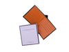 cadnam brown and orange bridle leather wallet with box