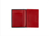 candover black and red bridle leather card case open