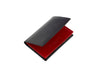candover black and red bridle leather card case