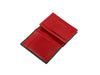 candover black and red bridle leather card case three quarters
