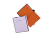 candover brown and orange bridle leather card case with box
