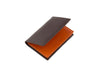 candover brown and orange bridle leather card case