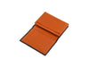 candover brown and orange bridle leather card case three quarters