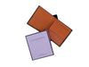 marshcourt brown and orange bridle leather coin purse wallet with box