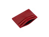 medina red bridle leather card case open