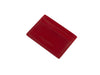 medina red bridle leather card case top