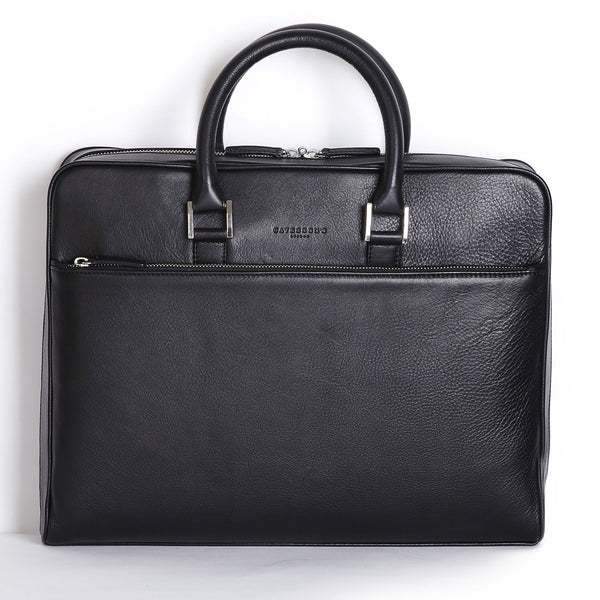 tillingham black calf leather case front