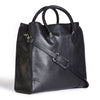 winterbourne black calf leather tote bag side