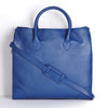 winterbourne blue calf leather tote bag front