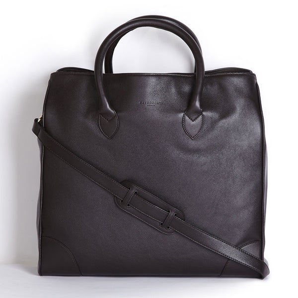 winterbourne brown calf leather tote bag front