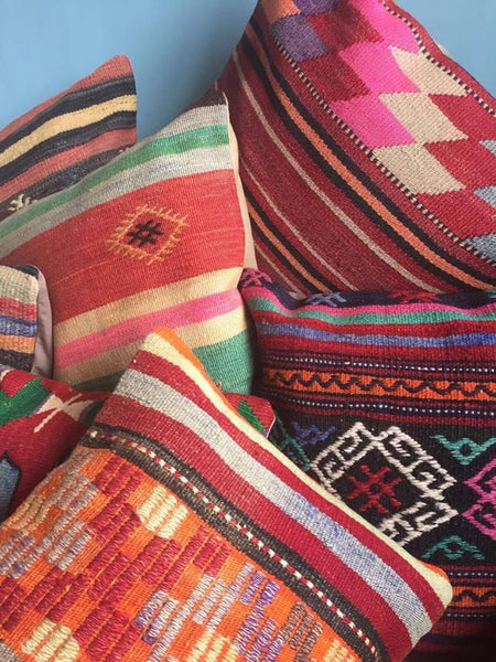 Giant Turkish Kilim Cushions