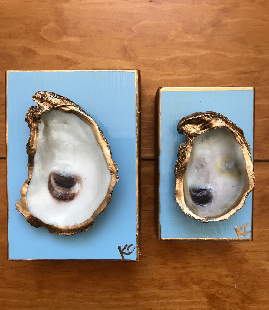 Single Oyster Art SM - Carolina Blue Sky- Katie Chalk