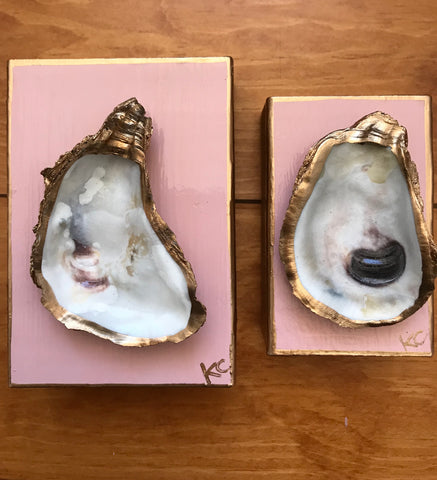 Single Oyster Art SM - Pinky Peach- Katie Chalk