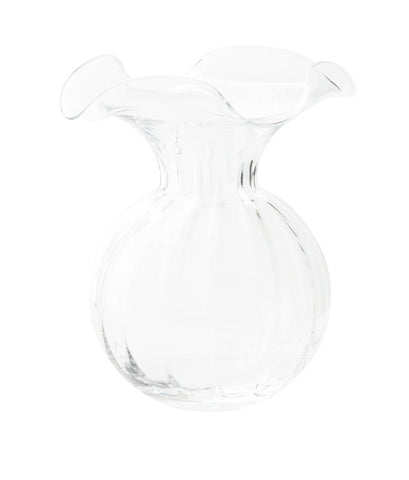 Vietri Hibisus Large Clear Fluted Vase