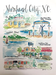 Morehead City, NC Print, Small
