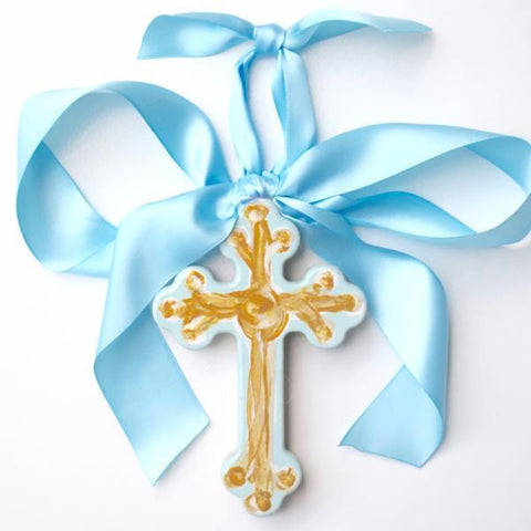 Blue Wooden Cross
